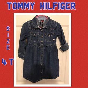 Tommy Hilfiger Girls Size 4T jean dress!